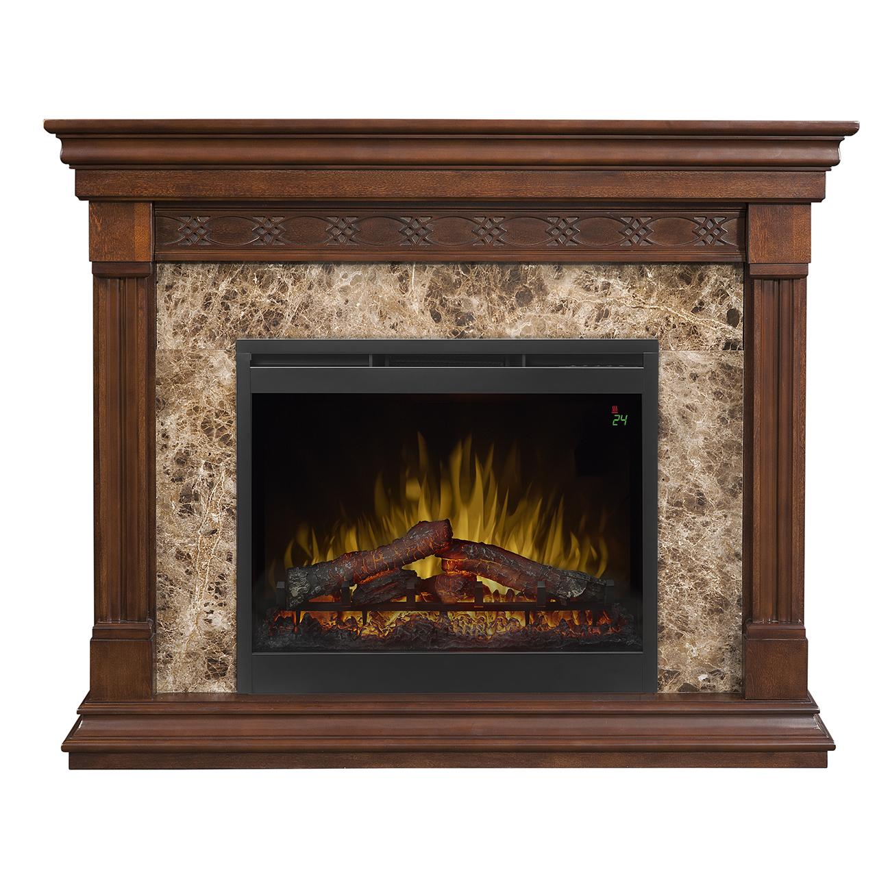 51 Dimplex Alcott Mantel Electric Fireplace