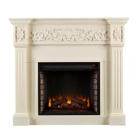"44.5"" Calvert Carved Ivory Electric Fireplace - FE9279"