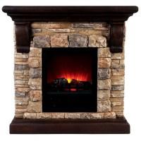 "40.25"" Vesti Faux Stone Electric Fireplace"
