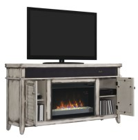 "59.5"" Simmons Country White Media Mantel Electric ..."