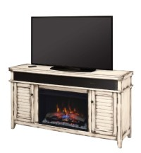 """59.5"""" Simmons Country White Media Mantel Electric"""