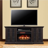 "72"" Grand Mahogany Infrared Media Electric Fireplace"