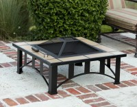 34'' Tuscan Tile Mission Style Outdoor Fire Pit