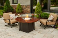 48'' Round Artisan Top Colonial Outdoor Round Fire Pit Table
