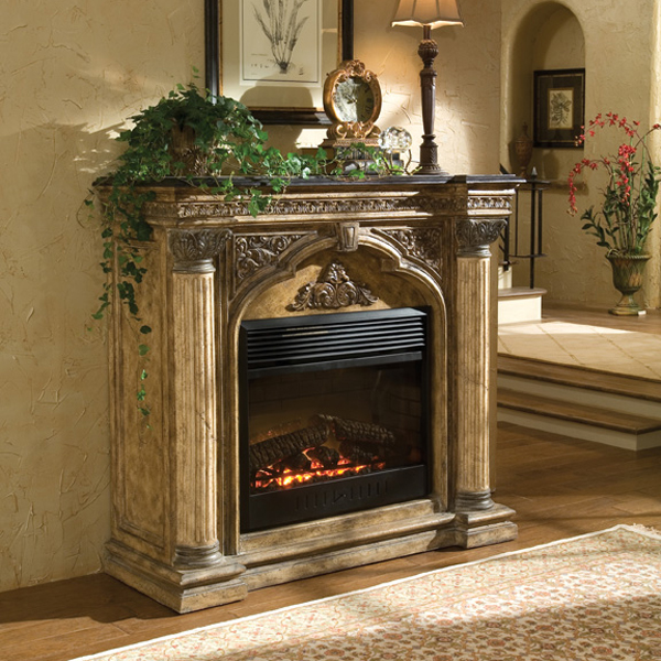 57 Arch Electric Fireplace