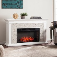 "60"" Canyon Heights Simulated Stone Electric Fireplace ..."