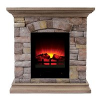 "29.5"" Juna Faux Stone Electric Fireplace"