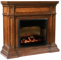 Amish Gas Fireplace. Amish Fireplace Tv Stand. 55