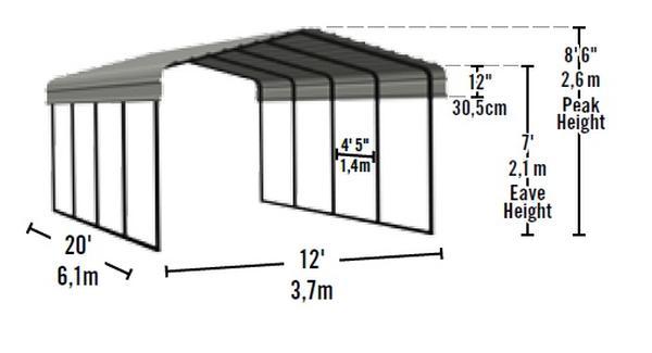 diagram for carport