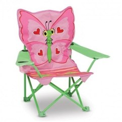 Kids Folding Camp Chair Black Dining Covers Indoor Outdoor Small Camping Lawn Beach Chairs Fun Melissa And Doug Sunny Patch Bella Personalized Toddler With Carrying