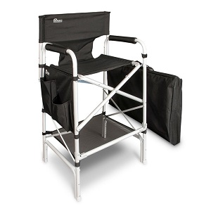 heavy duty folding chair with side table on wilkhahn earth vip extra tall aluminum directors big and products black large