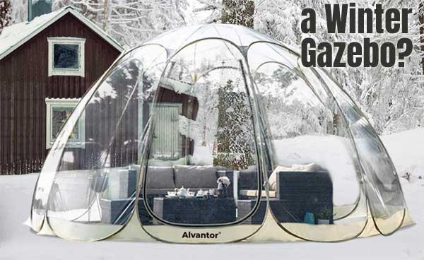 pop up bubble winter gazebo vs a gazebo