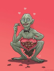 Gollum-Lord-of-the-Rings-Valentines-Day-card-PJ-McQuade