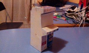 Une maquette en carton vous permettra de mieux fixer vos idées sur les dimensions de la borne