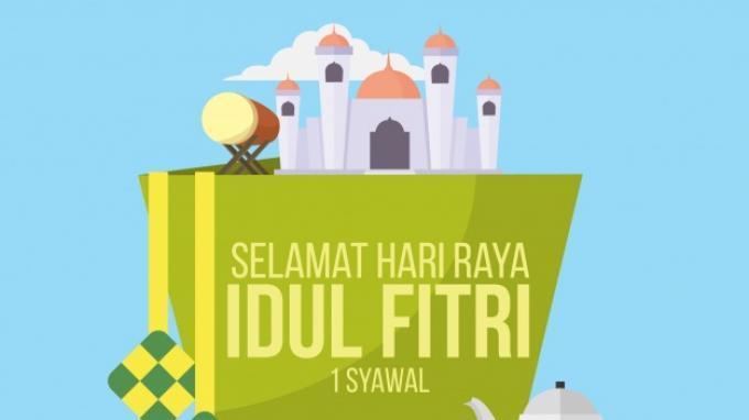 Gambar Ucapan Lebaran Idul Fitri 2021