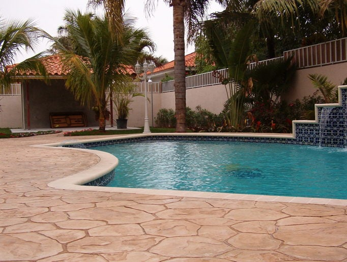 How to Revive a Pool Deck with Decorative Concrete  Port