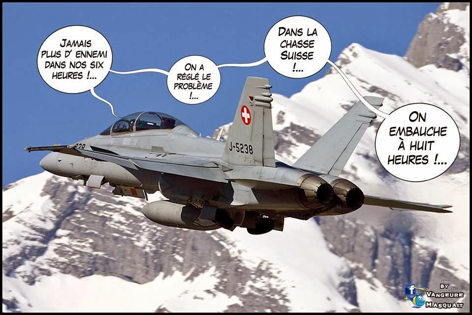 HUMOUR en image et en vidéo: Les horaires d'intervention de l'armée de l'air Suisse font jaser