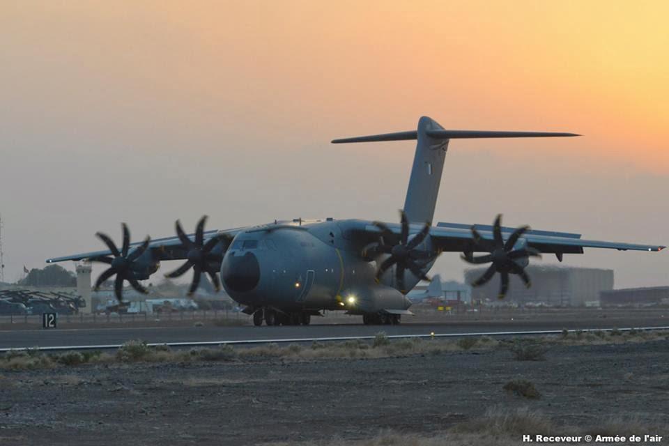 L'Atlas (A-400M) Ville de Toulouse en visite à Djibouti