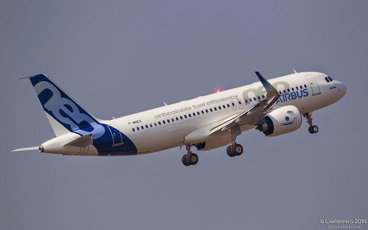 L'A320neo est dans les airs