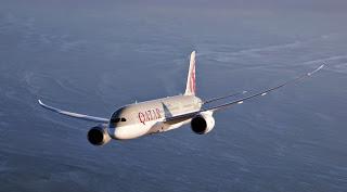 Demonstration de force de Qatar Airways au salon du Bourget