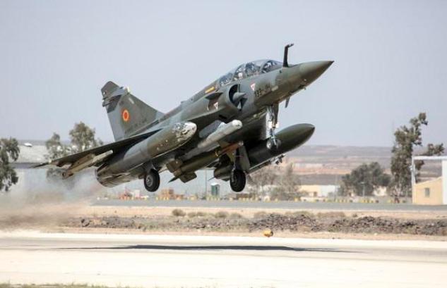 GBU-24 sous un Mirage 2000D durant l'opération Chammal - Source Opex360.com