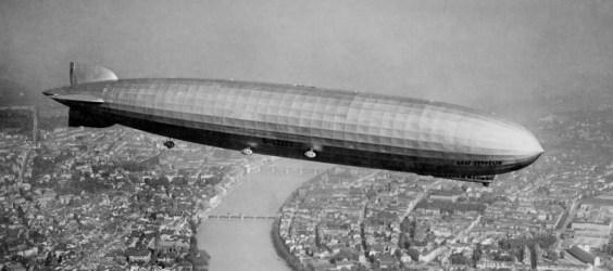 L'un des plus grands dirigeables allemands : le Graf Zeppelin I.