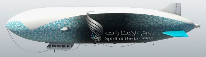 Zeppelin NT avec livrée Spirit of the Emirates, Crédit: Didier Wolff, Happy Design Studio