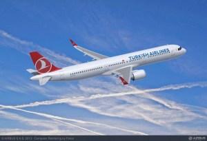 L'Airbus A321neo aux couleurs de Turkish