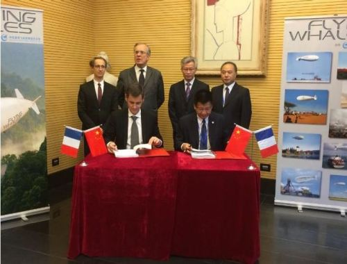 Signature à Pékin le 20 Octobre dernier en présence de Monsieur l'Ambassadeur, Crédit: FLYING WHALES
