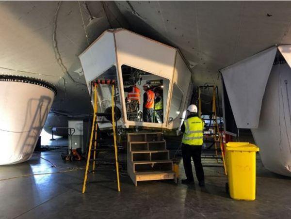 Cockpit réparé de l'Airlander 10, Crédit HAV
