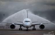Le Boeing 787-9 d'Oman Air arrive à Paris