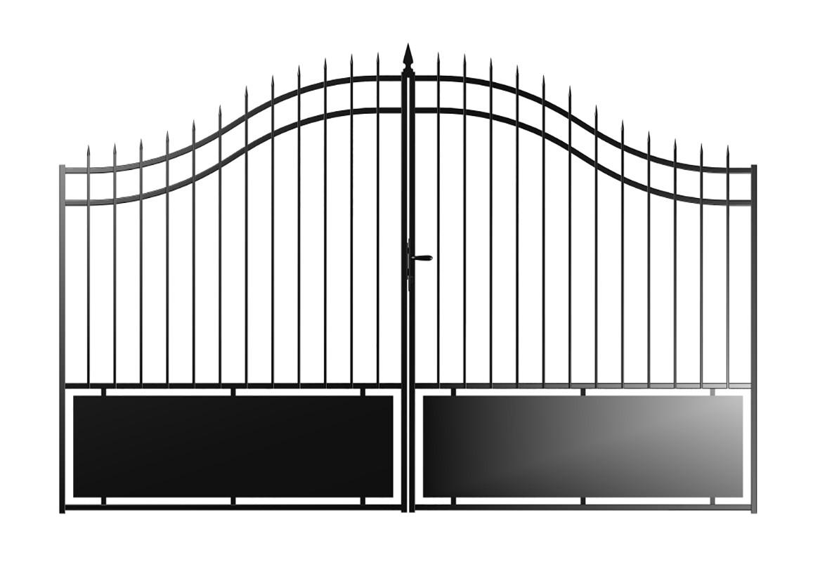 portail acier coventry semi ajoure