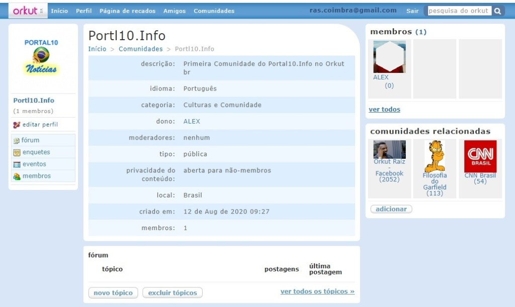 Comunidade: Similaridades do Orkut.com e Orkut br