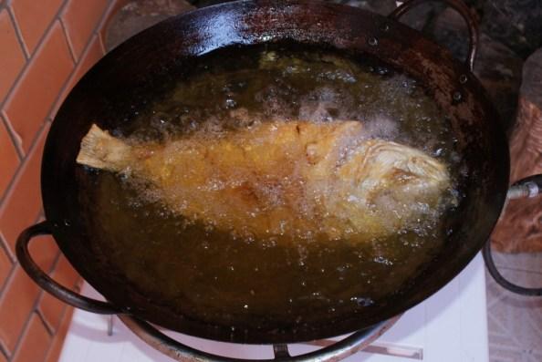 Ao serem submetidos ao aquecimento ou à fritura, os óleos liberam um produto cancerígeno chamado acroleína. O azeite de oliva tem baixa resistência ao calor e só deve ser utilizado a frio. Para fritar, use óleo de canola ou de milho mas, para minimizar os efeitos da fritura, certifique-se que a temperatura do óleo não passe dos 180º