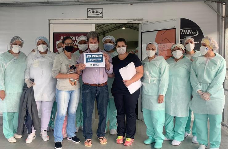 Neste fim de semana, a Vigilância Epidemiológica de Cotia contabilizou mais de 1.110 pacientes recuperados da Covid-19.