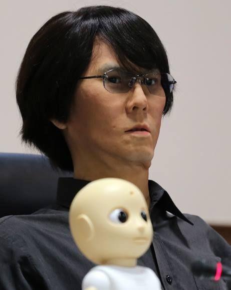 Geminoid HI-4, robot humanoide. Foto: Ismael Francisco/ Cubadebate.