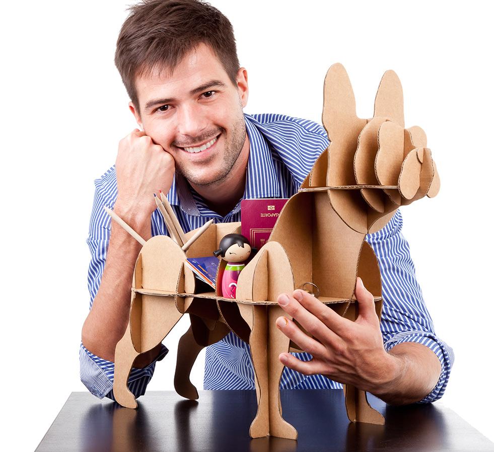 Porta treco no formato de um cachorro da raça buldogue francês. (Foto: Reprodução / Curiosite)