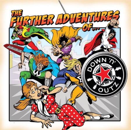 "Capa de ""The Further Adventures of…"", novo CD do Down 'n' Outz"