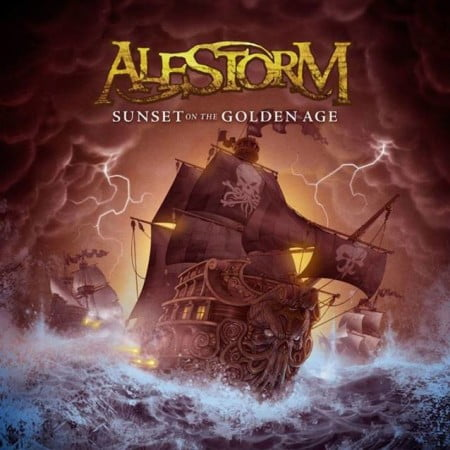 "Capa de ""Sunset on the Golden Age"", novo álbum do Alestorm"