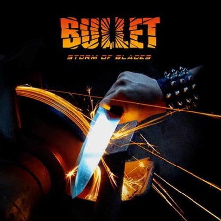 "Capa de ""Storm of Blades"", novo CD dos suecos do Bullet"