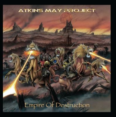 "Capa de ""Empire of Destruction"", o novo álbum do Atkins May Project"