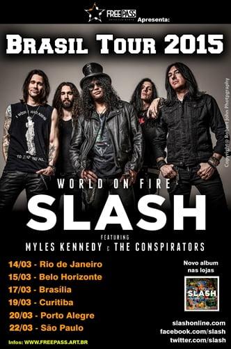 Slash volta ao Brasil em março do próximo ano