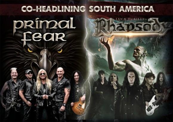 Primal Fear e Luca Turilli's Rhapsody: bandas anunciam oficialmente apresentação em São Paulo