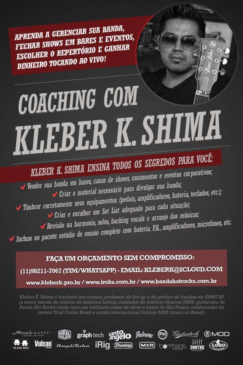 Kleber K. Shima: guitarrista da banda Hot Rocks abre datas para coaching