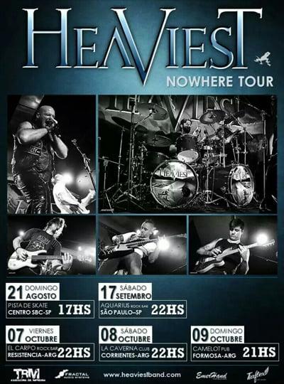 "Heaviest: confira datas da turnê ""Nowhere"" para este segundo semestre"