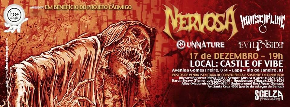 Nervosa: banda faz show no Rio de Janeiro antes de sua nova turnê europeia