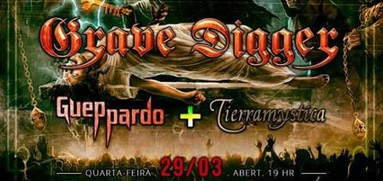Grave Digger: banda Gueppardo convidada para abertura em Porto Alegre