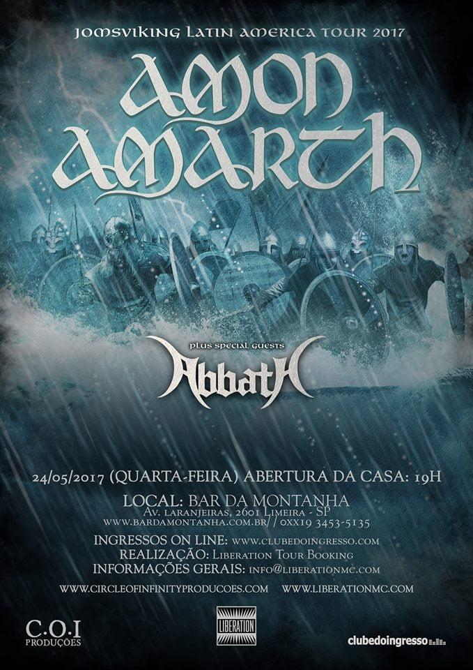 Amon Amarth: vídeo promocional do show em maio em Limeira