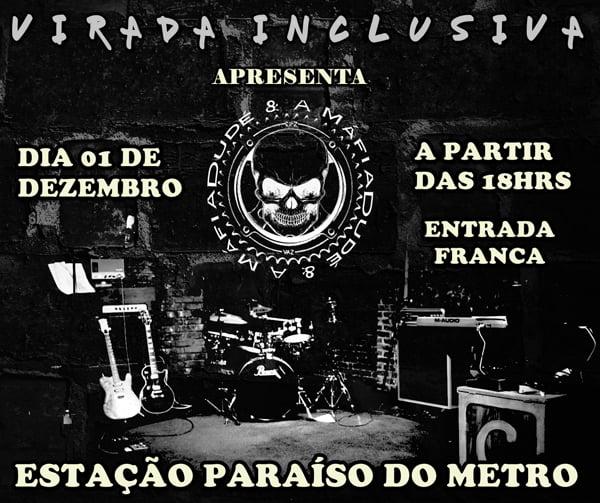 Dudé e a Máfia confirma show na Estação Paraíso do Metrô
