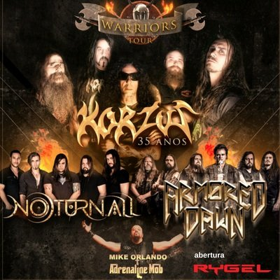 Warriors Tour: Korzus, Noturnall, Armored Dawn e Rygel realizam turnê histórica